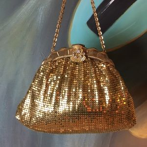 Art Deco Gold Mesh Purse